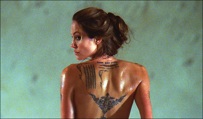 New Angelina Jolie Tattoos