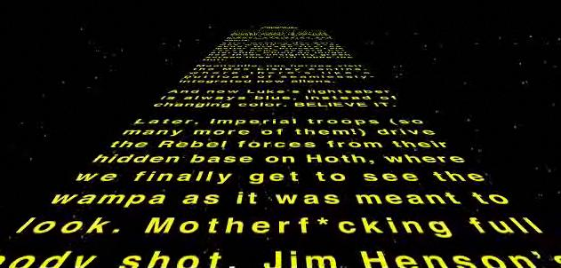 If they were George Lucas, this is what the STAR WARS opening text would