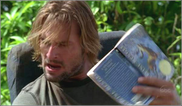 LOST Sawyer reading A Wrinkle in Time