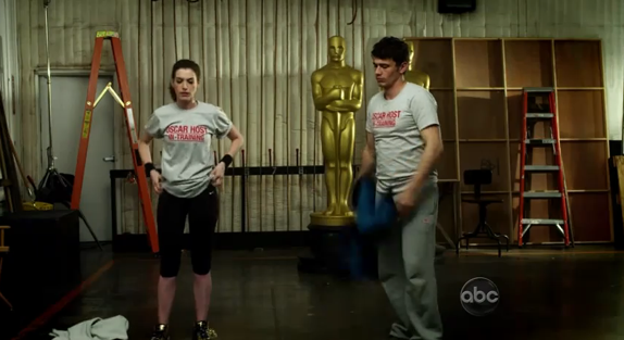 James Franco and Anne Hathaway are training hard, Rocky style for their